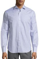 Eleventy Long Sleeve Graph Checked Shirt