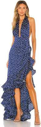 Bronx and Banco Bronte Navy Maxi Dress
