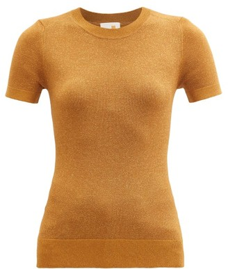 JoosTricot Metallic Jersey Short-sleeved Sweater - Brown