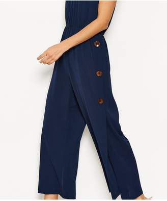 AX Paris Button Side Split Jumpsuit - Navy