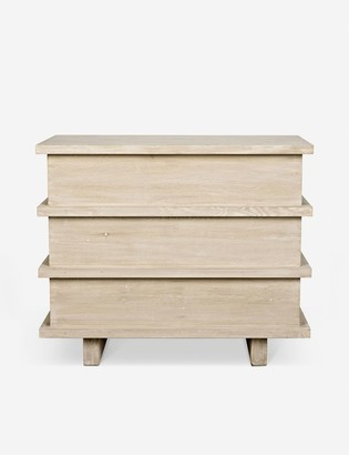 Lulu & Georgia Corliss 3-Drawer Dresser, White Wash