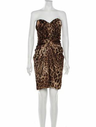 Dolce & Gabbana Silk Mini Dress w/ Tags Brown