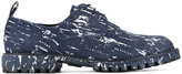 Diego Vanassibara - splatter denim derby shoes - men - Cotton/rubber - 41