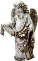 Asstd National Brand ANGEL WITH BIRDS ON DRESS OUTDOOR STATUE