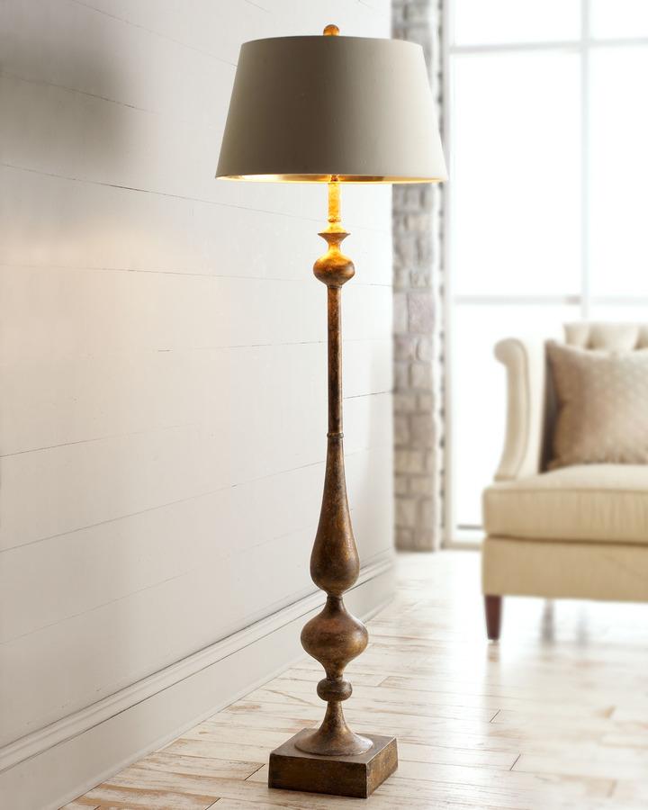 John-Richard Collection Burnished Gold Floor Lamp