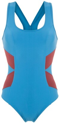 Track & Field TF Power panelled swimsuit