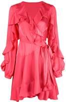 PatBO ruffle sleeve wrap dress