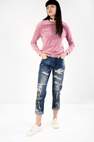 Glamorous Paint Splat Ripped Boyfriend Jeans