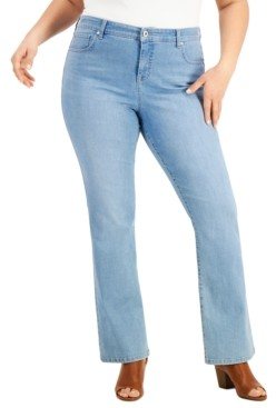 Style&Co. Style & Co Plus Size High-Rise Bootcut Jeans, Created for Macy's