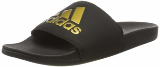 adidas Men's Adilette Comfort Beach & Pool Shoes Black (Core Black/Core Black/Core Black Core Black/Core Black/Core Black) 18 UK
