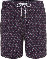 Howick Men's Two Colour Anchor Print Swim Shorts