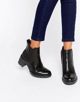 Timberland Black Leather Averly Chelsea Boot