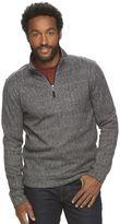 Croft & Barrow Men's Herringbone Quarter-Zip Sweater