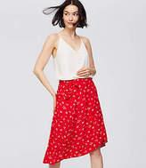 LOFT Petite Floral Midi Wrap Skirt