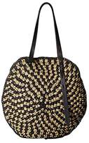 Rebecca Minkoff Large Circle Tote (Natural/Black) Tote Handbags