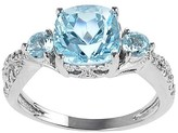 Journee Collection Tressa Collection Cushion Cut Topaz Ring in Sterling Silver