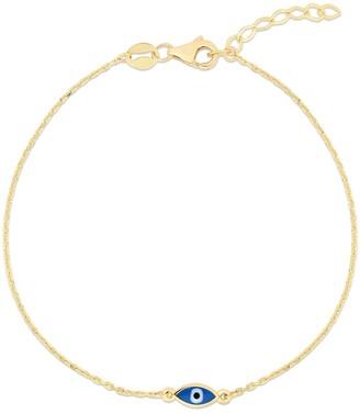 Sphera Milano 14K Yellow Gold Plated Sterling Silver Evil Eye Bracelet