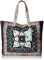 Steve Madden Colleen Large Tribal Geometric Bohemian Fabric Tote Shoulder Handbag