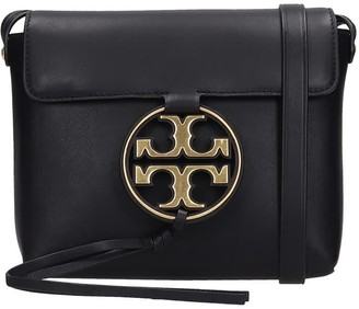 Tory Burch Miller Metal Shoulder Bag In Black Leather