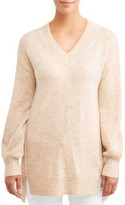 Time and Tru Women's V-Neck Tunic Sweater