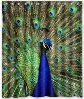 SKCASE abigai I Am the Most Beautiful Among All Peacocks Custom Printed Waterproof fabric Polyester Bath Curtain Bathroom Decor Shower Curtain