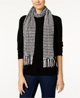 Charter Club Houndstooth Chenille Woven Scarf, Only at Macy's