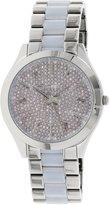 Michael Kors Women's Runway MK4297 Silver Stainless-Steel Swiss Quartz Watch