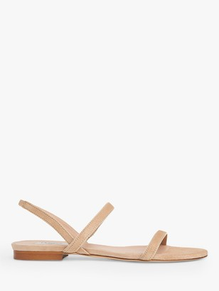 LK Bennett Rosalie Suede Flat Sandals, Beige