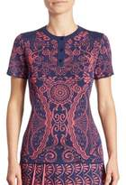 Mary Katrantzou Barb Knit Henley Tee