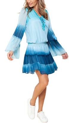 Hale Bob Ombre Blouson Mini Dress