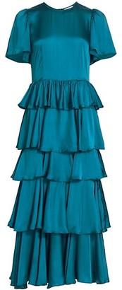 Rhode Resort Serena Ruffle Midi Dress
