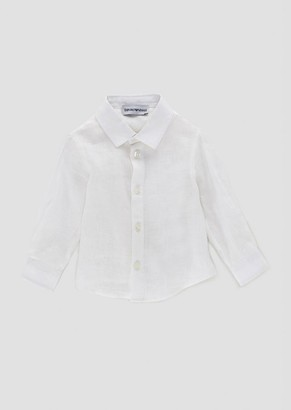 Emporio Armani Shirt In Pure Linen