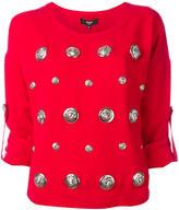 Versus lion head studded shirt - women - Acetate/Viscose - 38