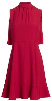 RED Valentino Bowback Flounce Hem Dress