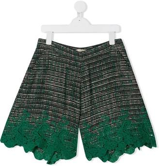 Elie Saab Junior Embroidered Hem Shorts