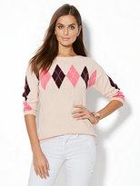 New York & Co. Boatneck Sweater - Argyle