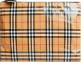 Burberry Large pouch in plastic covered cotton