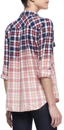 Rails Gia Ombre Plaid Flannel Button-Down Shirt (Stylist Pick!)