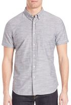 AG Jeans Heathered Slim-Fit Nash Shirt