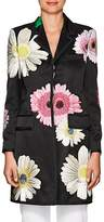 Thom Browne WOMEN'S EMBROIDERED SILK OVERCOAT