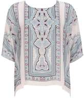 Wallis Stone Printed Layered Top