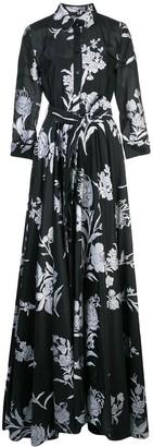 Carolina Herrera belted floral print dress