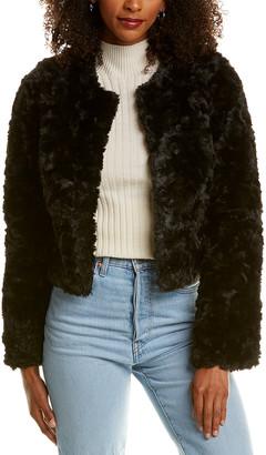 Line & Dot Fuzzy Jacket