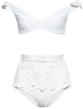 Zimmermann Off-the-shoulder Appliqued High-rise Bikini