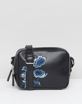 French Connection Embroidered Camera Bag
