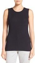 BOSS Women's 'Edori' Ribbed Jersey Shell