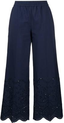 P.A.R.O.S.H. Scallop-Hem Cropped Trousers