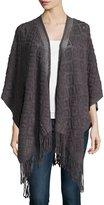 Neiman Marcus Diamond-Knit Blanket Wrap