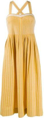 The Great Pinstripe Midi Dress