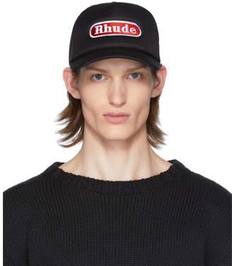Rhude Black Pit Stop Trucker Cap